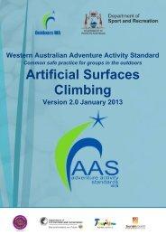 Artificial Surfaces Climbing - Outdoors WA