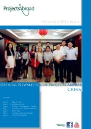Contents: Page 2 Editor's Note Page 3 – 5 ... - Projects Abroad