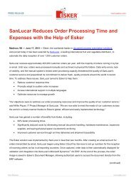 SanLucar Reduces Order Processing Time and Expenses ... - Esker