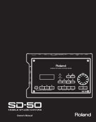 Owner's Manual (SD-50_OM.pdf) - Roland