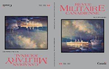 journal canadienne - Revue militaire canadienne - Ministère de la ...