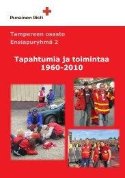 Tapahtumia ja toimintaa 1960-2010 - RedNet - Punainen Risti