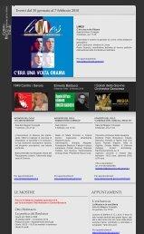 Eventi dal 30 gennaio al 7 febbraio 2010 LE ... - Palazzo Ducale