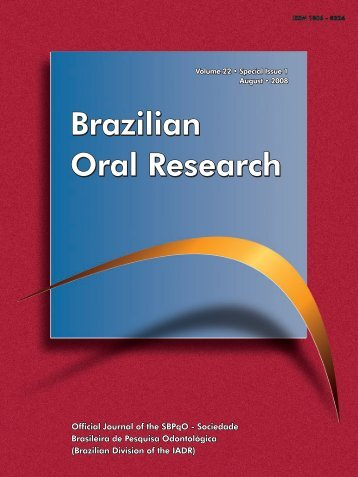 Brazilian Oral Research Brazilian Oral Research Brazilian Oral
