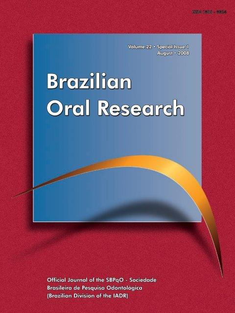 cca4a003157 Brazilian Oral Research Brazilian Oral Research Brazilian Oral
