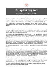 Příspěvkový řád - Hospodářská komora České republiky