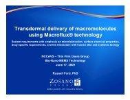 Transdermal delivery of macromolecules using Macroflux® technology