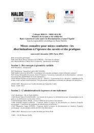 Mieux connaître pour mieux combattre : les ... - CERSA - CNRS