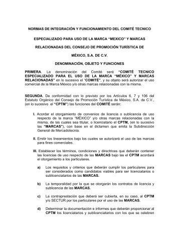 Normas de Operación del Comité Técnico Especializado ... - CPTM