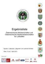 Ergebnisliste ÖSTM/ÖM Luftgewehr 2013