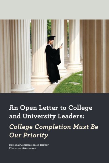 An Open Letter to College and University Leaders - American ...