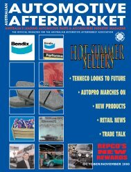AM OCT/NOV - Australian Automotive Aftermarket Magazine
