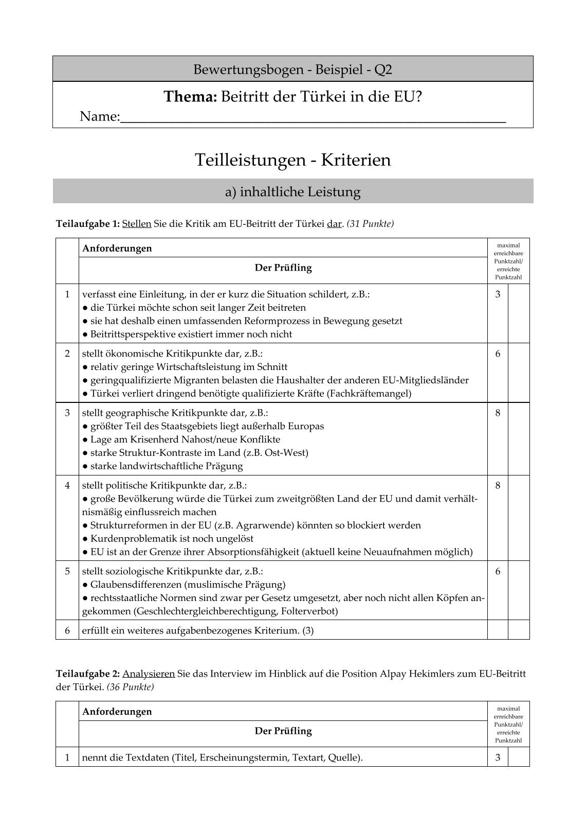 Ziemlich Bewertungsbogen Zeitgenössisch - FORTSETZUNG ARBEITSBLATT ...