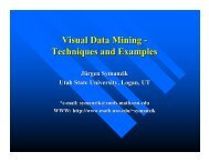 Visual Data Mining - Techniques and Examples - Utah State University