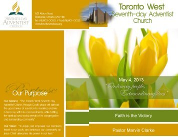 Dr. Roy Adams - Toronto West Seventh Day Adventist Church
