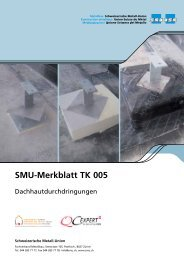 SMU-Merkblatt TK 005 - Schweizerische Metallunion