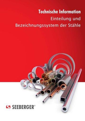 Einteilung und Bezeichnungssystem der Stähle - Seeberger