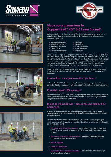 Nous vous présentons le CopperHead® XD™ 3.0 Laser Screed®