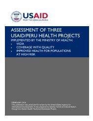 assessment of three usaid/peru health projects - GH Tech