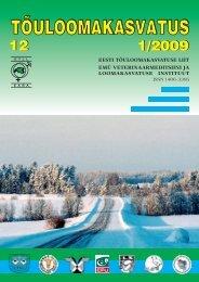 Eesti loomakasvatus 2008. aastal - Tõuloomakasvatus