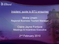 Download BTU Enquiries Presentation - Conventionscotland.com