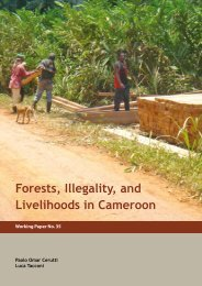 Forests, Illegality, and Livelihoods in Cameroon - Impact monitoring ...
