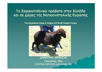 Το Σαρακατσάνικο πρόβατο στην Ελλάδα και σε χώρες της ...