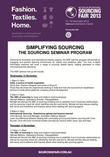 SIMPLIFYING SOURCING