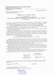 Veřejná vyhláška - Obec Hodonice