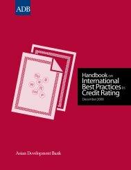 International Best Practices in Credit Rating - Asianbondsonline ...