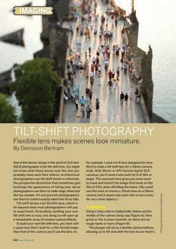TILT-SHIFT PHOTOGRAPHY - Make