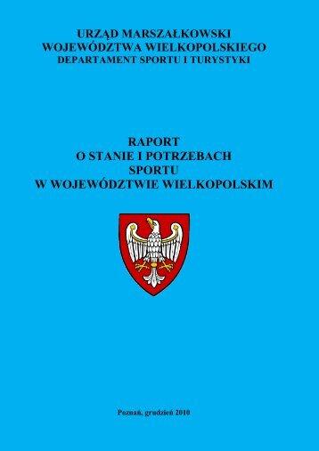 raport o stanie i potrzebach sportu w województwie wielkopolskim
