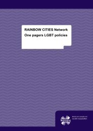 RAINBOW CITIES Network One pagers LGBT policies - Movisie