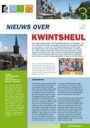 Nieuwsbrief Centrumplan Kwintsheul - Gemeente Westland
