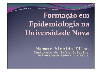 Formação em Epidemiologia na Universidade Nova - Epi2008