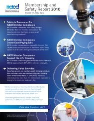 Membership and Safety Report 2010 - NACD