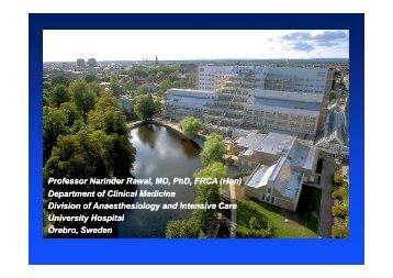 Professor Narinder Rawal, MD, PhD, FRCA (Hon) - AKUTNE.CZ