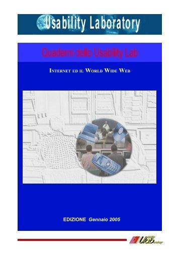 Internet e il world wide web, Quaderno Usabilità Lab, 2005