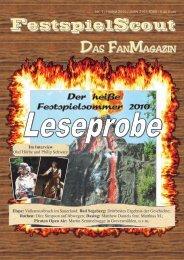 Leseprobe Nr. 1 - FestspielScout.de