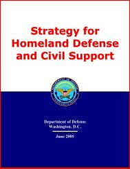 Strategy for Homeland Defense and Civil Support - United States ...