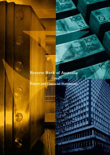 Reserve Bank of Australia Annual Report 1998 - Polymer Bank ...