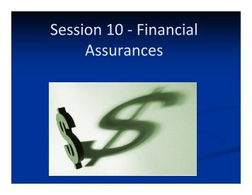 Session 10 - Financial Assurances - The Conservation Fund