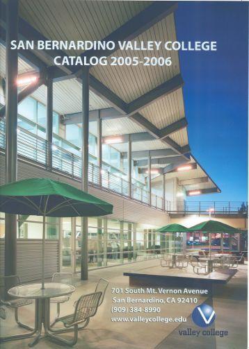 san bernardino valley college 2005-2006 - SBCCD : Document Library