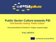 (of PSI re-use) www.ePSIplus.net - ePSIplus - Public Sector ...