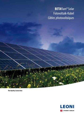 BETAflam® Solar Fotovoltaik-Kabel Câbles photovoltaïques - LEONI ...