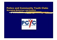 Police and Community Youth Clubs - NSW Sport and Recreation