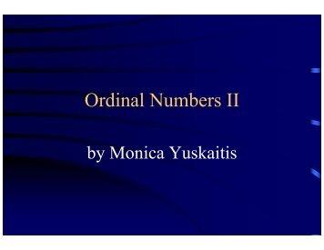 ordinal numbers 2