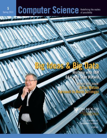 Big Ideas & Big Data - Faculty of Computer Science - Dalhousie ...