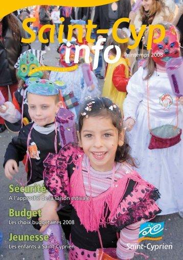 Sécurité Budget Jeunesse - Ville de Saint Cyprien