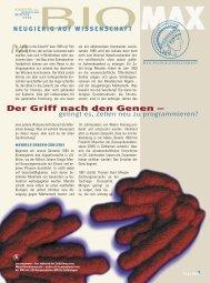 Der Griff nach den Genen - Scinexx